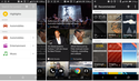 HTC's BlinkFeed news aggregator, along with its Theme interface
