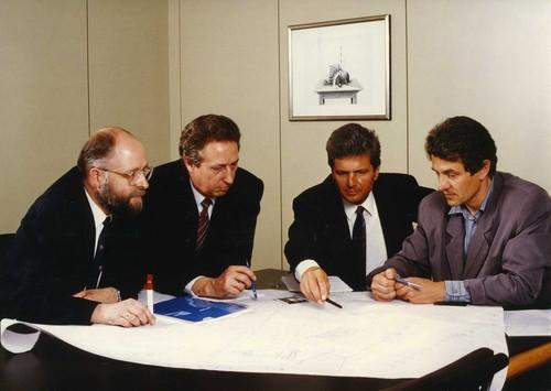 SAP founders in 1988: Klaus Tschira, Hans-Werner Hector, Dietmar Hopp, Hasso Plattner (from left to right)