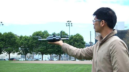 The Lily Camera drone, on show during a demonstration in San Francisco