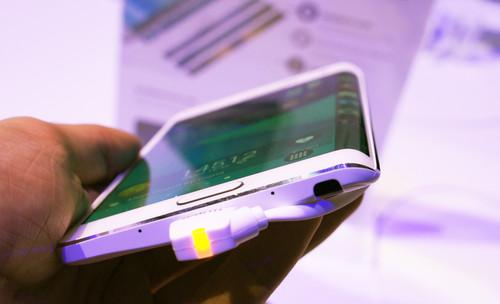 Samsung's Galaxy Edge smartphone has a curved screen