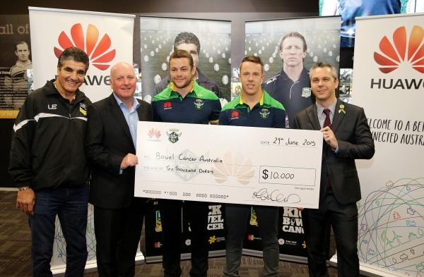 Huawei Australia and the Canberra Raiders get behind Bowel Cancer Australia