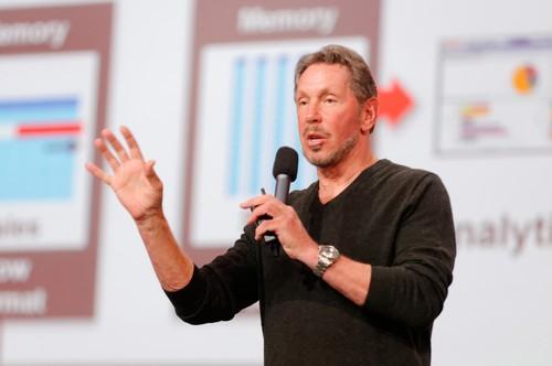 Larry Ellison speaks at Oracle Open World in San Francisco on Sept. 22, 2013.