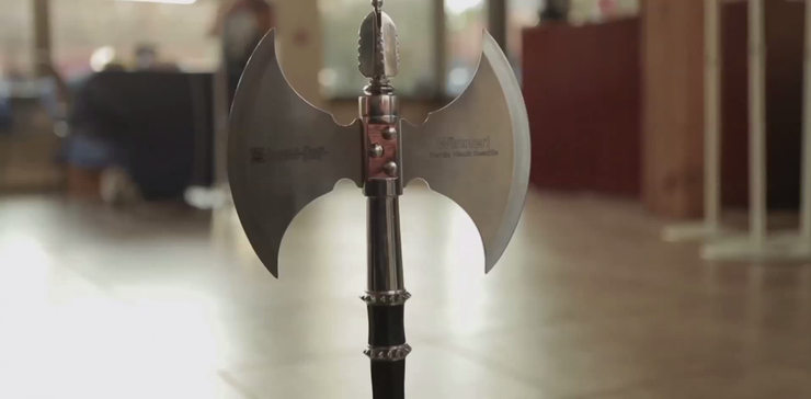 The Battle Hack trophy; an axe.