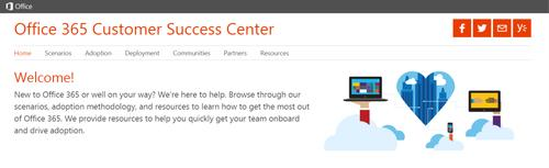 Microsoft launched the new Office 365 Customer Success Center website to help companies promote the suite's usage among employees.