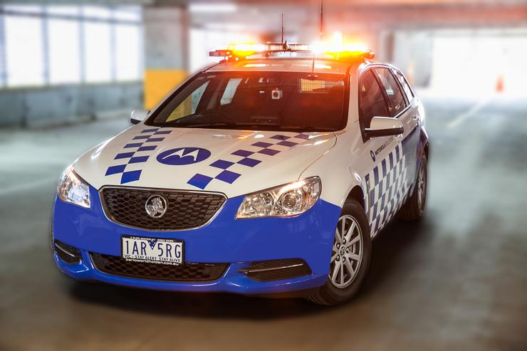 Motorola Solutions' police car of the future, launch at TechLeaders Forum 2014 at the Gold Coast.