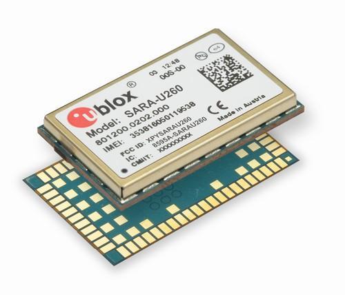 The SARA-U260 3G/2G module from U-blox.