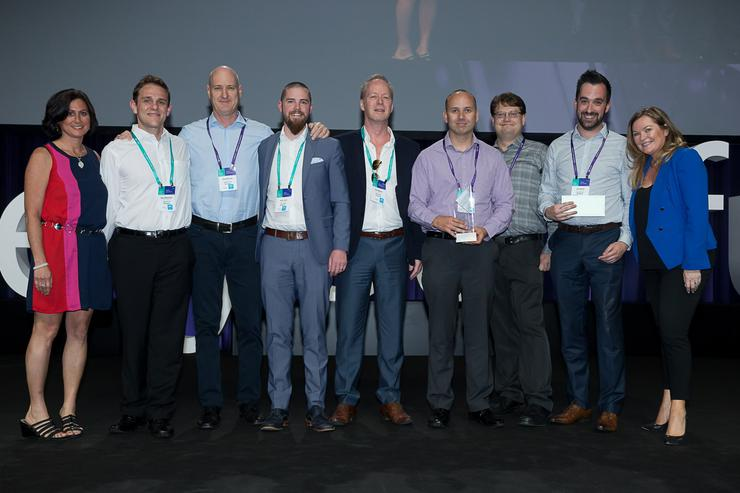 Team Ignia winning the Excellence in Cloud Platform Award at the 2016 Microsoft Australia Partner Conference