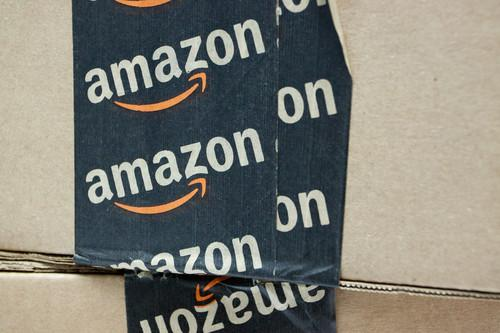 Amazon logo on tape