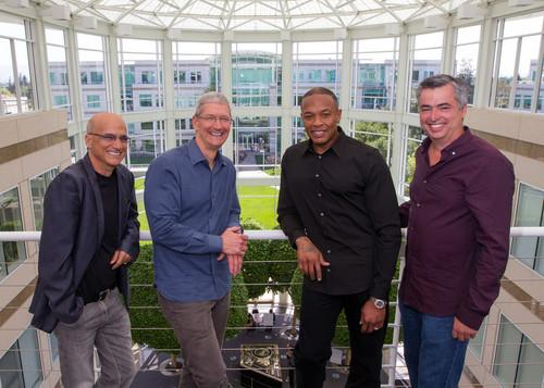 Jimmy Iovine, Tim Cook, Dr. Dre and Eddy Cue