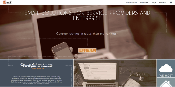 Atmail's updated website.