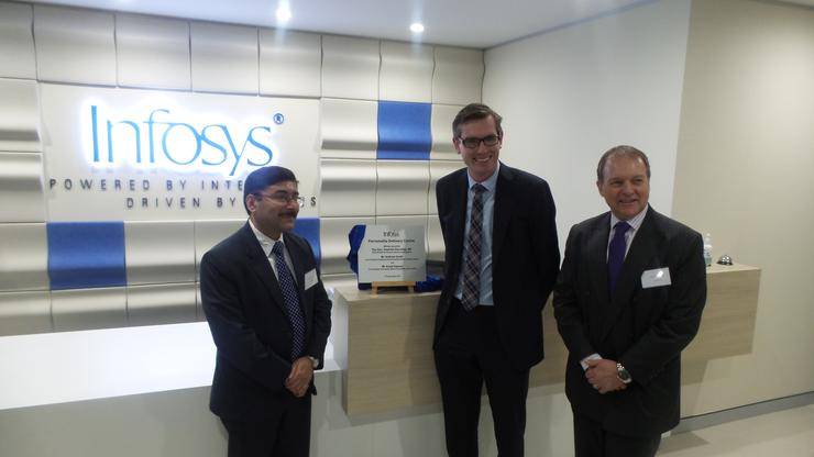 Anup Kahoor (Infosys), Dominic Perrottet and Andrew Groth (Infosys)