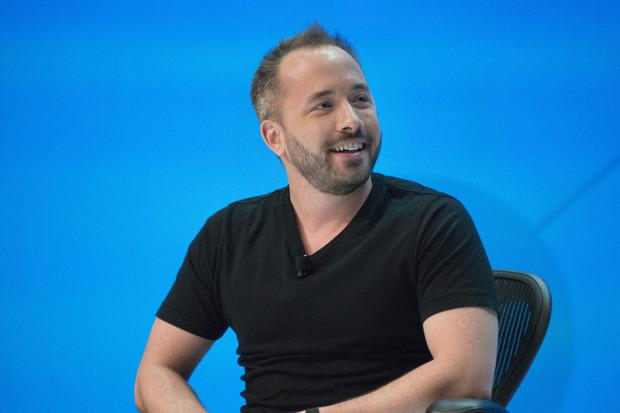 Dropbox CEO Drew Houston speaks at the company's Open conference in San Francisco on November 4, 2015 Credit: Blair Hanley Frank