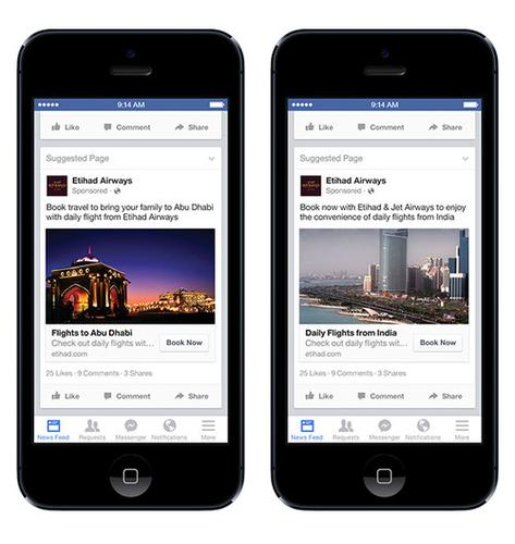 Facebook's ad technology now lets marketers, like the airline pictured above, target expats specifically.