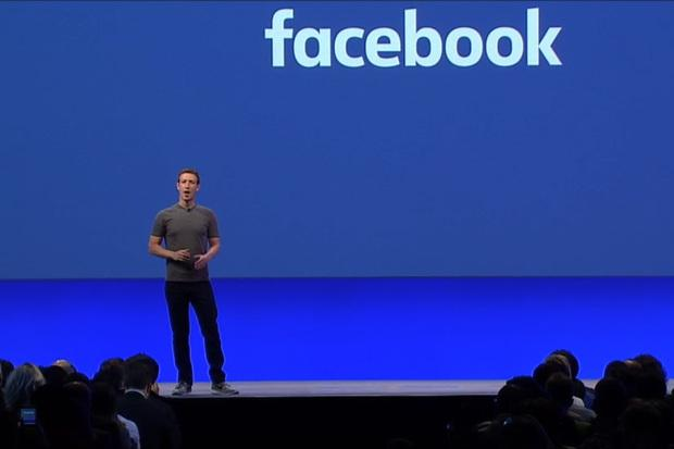 Facebook CEO Mark Zuckerberg speaks at the company's F8 conference in San Francisco on April 12, 2016. Credit: Facebook/IDGNS