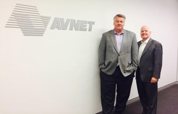 Avnet Technology Solutions A/NZ vice-president and general manager, Darren Adams and Avnet chief financial officer, Kevin Moriarty