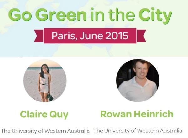 Australian team enters Schneider Electric's Go Green in the City 2015 student competition finals