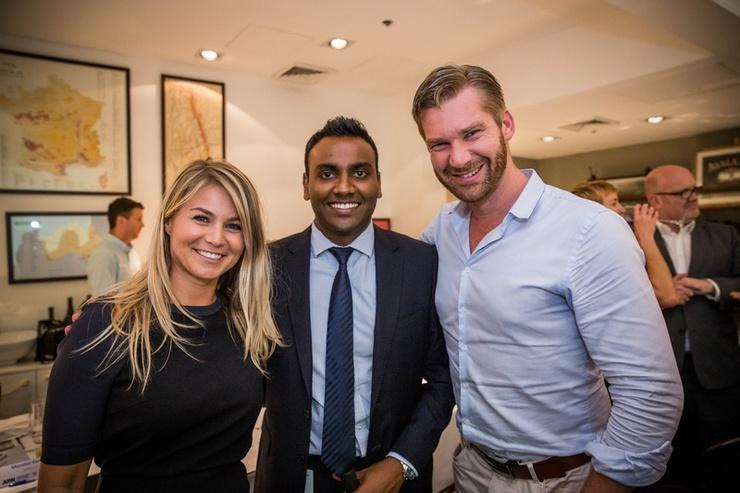 Aggie Szemplinska (Pernix Data), Muralee Kanagaratnam (APC by Schneider Electric), Aaron Steppat (VMware) at the Emerging Leaders Think Tank in February.