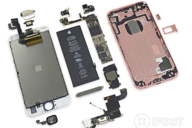 iFixit's teardown of the iPhone 6S reveals the industry's latest DRAM memory with twice the capacity and speed as the previous version. Credit: iFixit