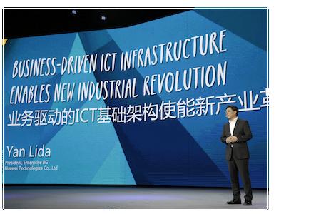 Huawei Technologies president of enterprise business, Yan Lida
