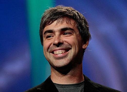 Google CEO, Larry Page is all smiles over his company's recent win over Oracle