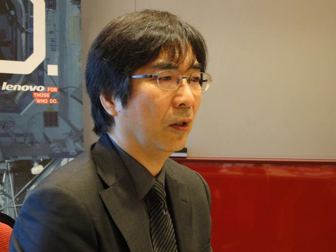 Lenovo development design and user experience director, Tomoyuki Takahashi