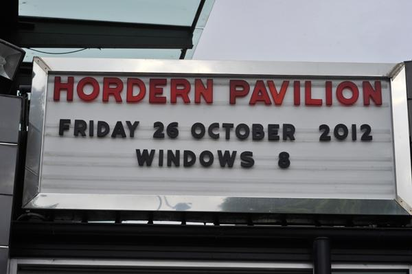 The Microsoft Australia Windows 8 launch took place at the Hordern Pavilion.