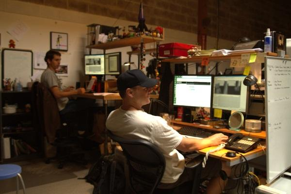 Designers working on the Dell platform for Twilight Saga animation