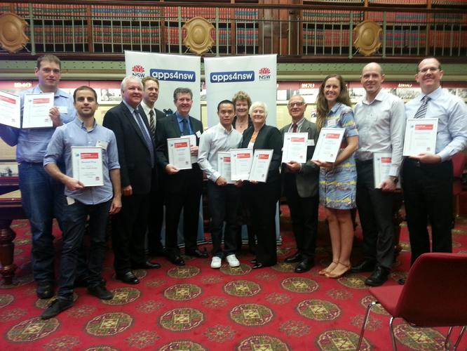 The winners of NSW Government's apps4nsw competition.