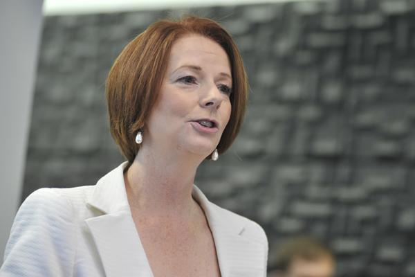 The Prime Minister, Julia Gillard