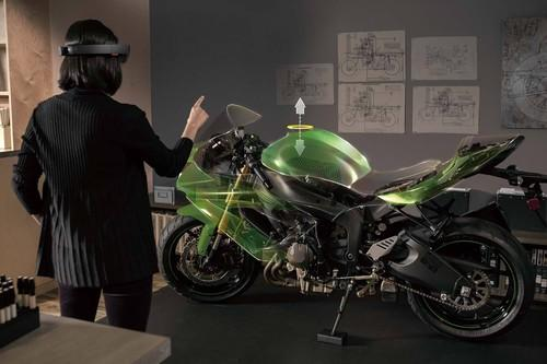 In this demo image, Microsoft's HoloLens headset will let you view virtual 3D images within your dull, everyday real world.