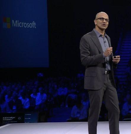 Satya Nadella, speaking at the 2015 Microsoft Partner Conference, Orlando, Florida