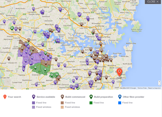 Updated NBN rollout map