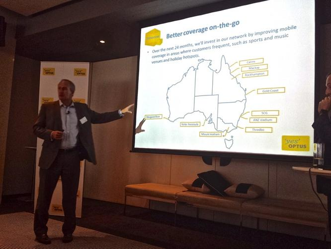 Optus mobile engineering vice-president, Andrew Smith, explaining the telco's focus areas for the next 24 months.