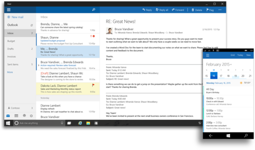 Outlook for Windows 10.