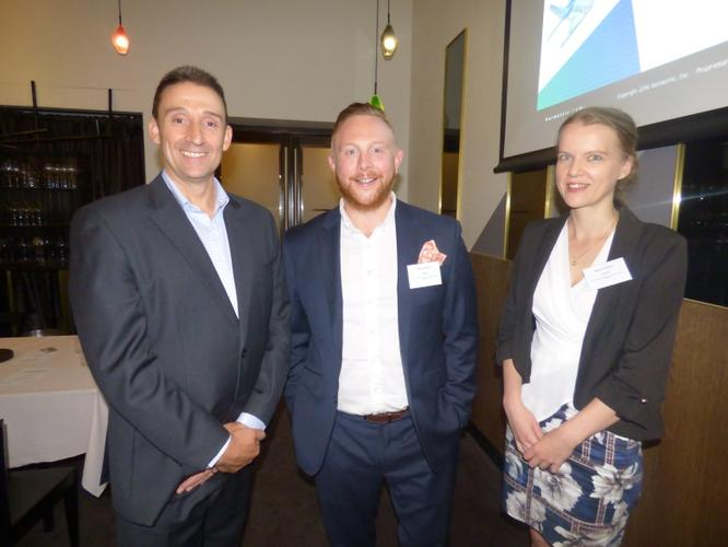 Brian Grant (Vormetric) and Noel Allnutt (Solista) co-hosted lunch at Bentley with Marta Ganko (Deloitte). The trio spoke about how changes in Australia's privacy legislation could affect business in the nation