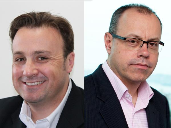 Former Ruckus Wireless A/NZ managing director, Patrick Devlin and former Brocade A/NZ, managing director, Gary Denman.