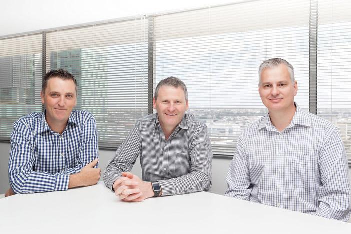 L-R: Paul Robinson, Shayne Tanner and Terry Mueller (the Permeance executive team)