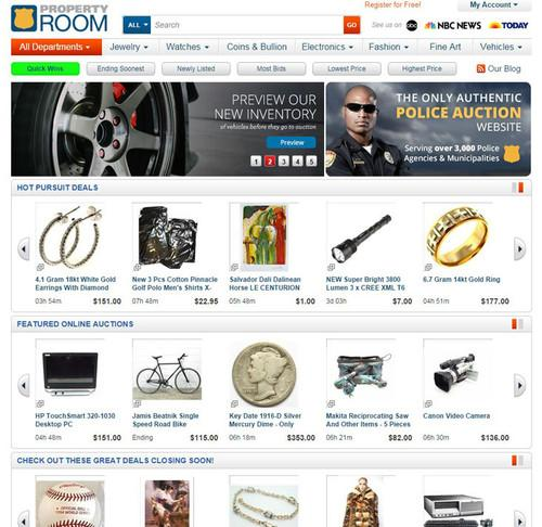 PropertyRoom.com is an online auction site of seized goods that is run entirely on Amazon Web Services' cloud.
