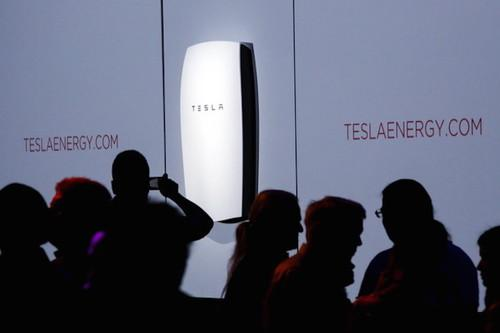 The Tesla Powerwall battery being announced in May.