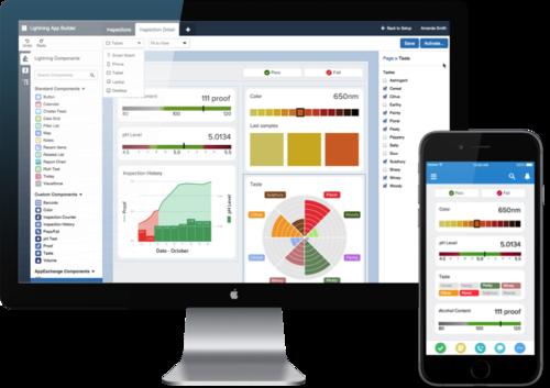 Salesforce's new Lightning App Builder.