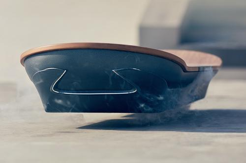 This image from a Lexus press release of June 24, 2015, shows a prototype hoverboard called the Slide.