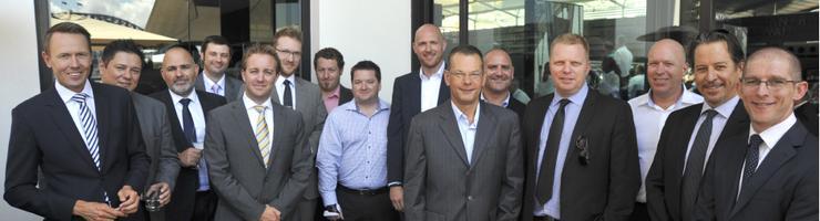 From left: Mark Shaw (Symantec), Philip Dimitriu (Check Point Software), Julian Haber (Intalock), Chris Player (ARN), Allan Swann (ARN), Steve Miller (FireEye/Mandiant), Nigel Hedges (Hemisphere Technologies), Brett Williams (RSA), Brent Thurrell (BeyondTrust), Cam Wayland (Channel Dynamics), Chris Barton (FireEye), David Hook (Westcon Group), Scott Thomas (McAvoy Thomas), Andrew McHenry (Cyberoam), Jonathan Christopher (RSA)