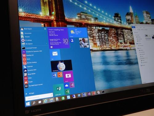 The new Windows 10 start menu, combines the old and the new