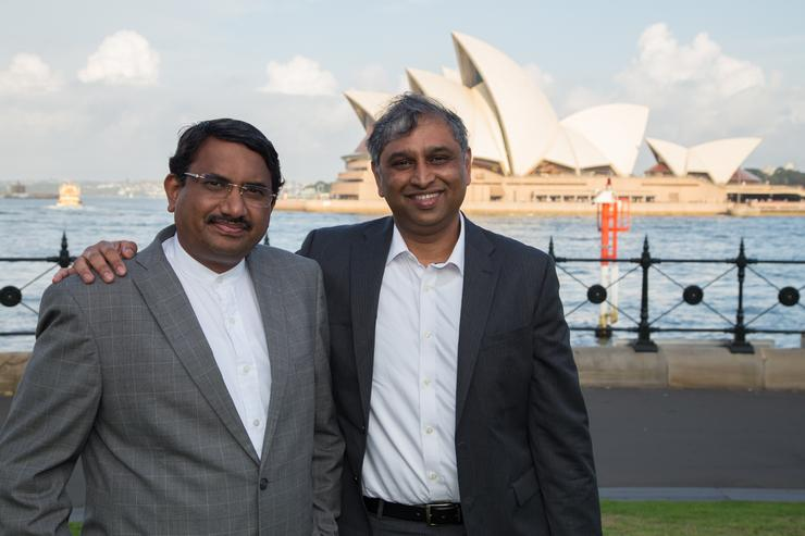 Symphony SUMMIT CEO Satyen Vyas and CTO Vijaya Shanker were recently in Sydney to officially launch the new business