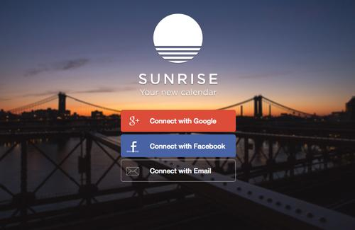 Sunrise's calendar app pulled data from third party sources like Google and Microsoft Exchange.