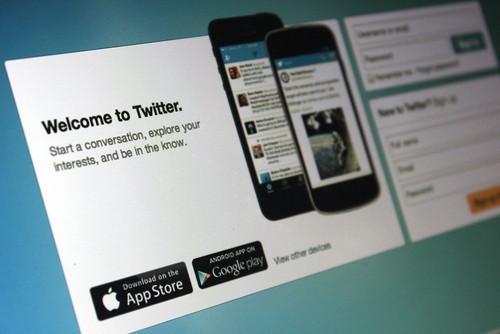 Twitter's welcome screen