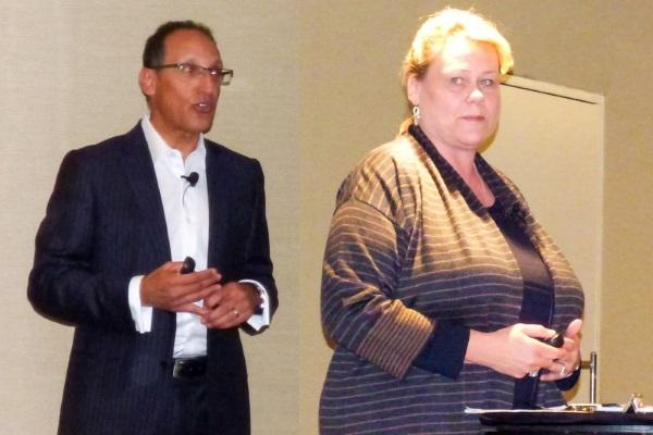 CompTIA community staff leader, Moheb Moses and CompTIA industry relations senior vice-president, Nancy Hammervik