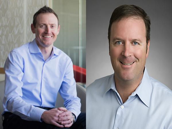 The newest members of the Webroot executive team, Chad Bacher and Neil Stratz.