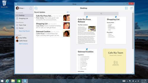 Quip Desktop running on Windows