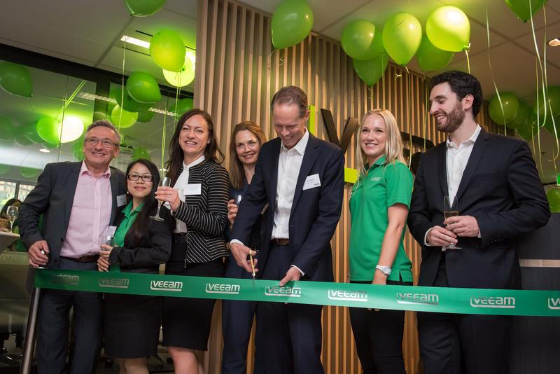 Veeam toasts channel success at new office opening